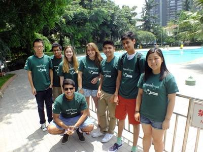 아시아 중국 프로젝트 봉사자들이 여가시간을 보내고 있다