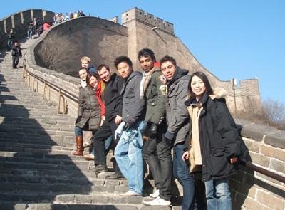 프로젝트 어브로드 중국 프로젝트 봉사자들이 여가시간에 만리장성을 방문하고 있다