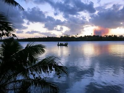 피지 호수의 아름다운 풍경