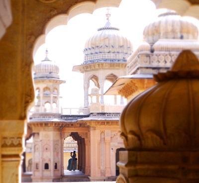 인도 자이푸르의 아름다운 Galtaji 사원