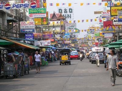 태국 자원봉사 프로젝트 활동지 거리 모습