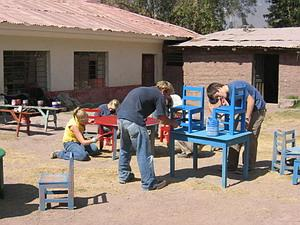 여름방학 해외 자원봉사 프로젝트 참가자들