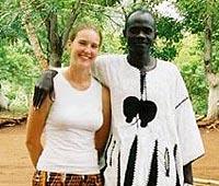 가나 봉사자 Catherine 과 Reverend