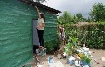 탄자니아 아프리카 전통마을 자원봉사자