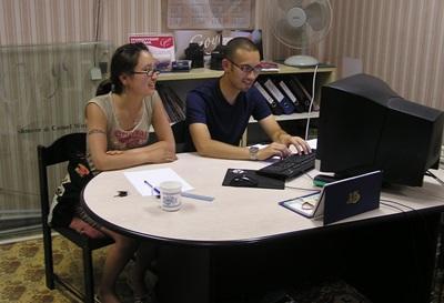 몽골의 비즈니스 프로젝트에 참가한 인턴들