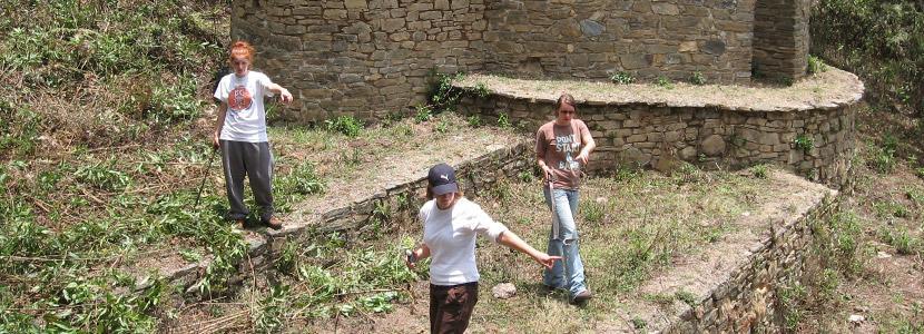 고고학 해외봉사활동에 참가한 고교생 봉사자들
