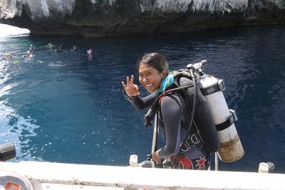 프로젝트 어브로드 태국해양보호 프로젝트 스쿠버 다이빙 준비 모습