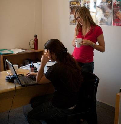남아공에서 출판 저널리즘 인턴쉽 프로젝트 참가자들