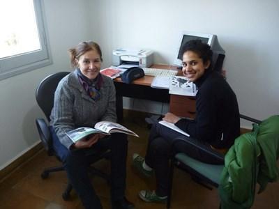 프로젝트어브로드 어학코스에서 스페인어를 배우는 봉사자