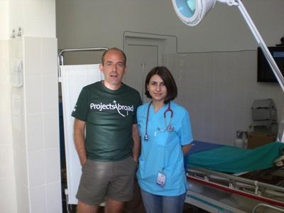 루마니아 의료 프로젝트 인턴과 병원 직원