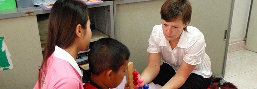 해외 작업치료 프로젝트 인턴 활동 모습
