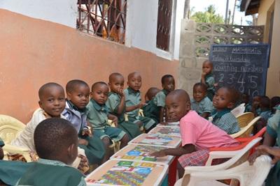 탄자니아 초등학교의 어린이들